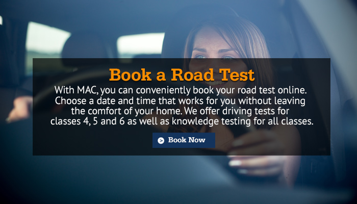 Book a road test now!